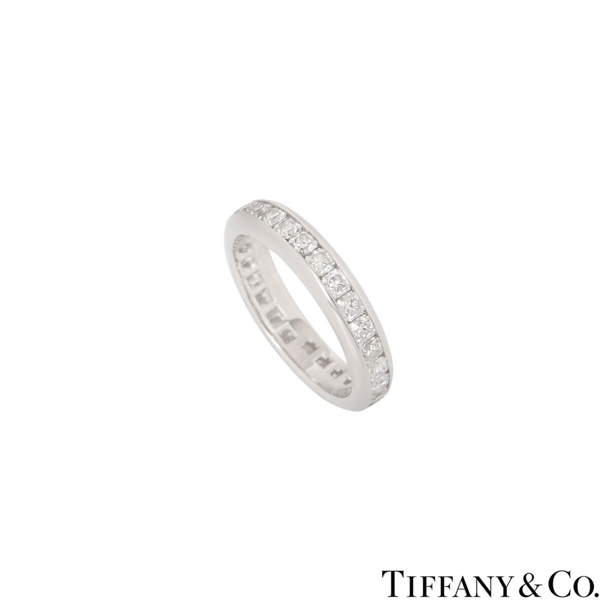 120a42d54 Tiffany & Co Platinum Lucida Diamond Full Eternity Ring 1.74ct
